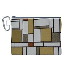 Fabric Textures Fabric Texture Vintage Blocks Rectangle Pattern Canvas Cosmetic Bag (L)