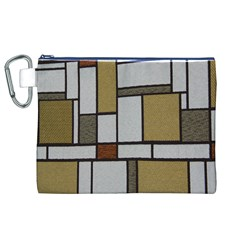 Fabric Textures Fabric Texture Vintage Blocks Rectangle Pattern Canvas Cosmetic Bag (XL)