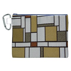 Fabric Textures Fabric Texture Vintage Blocks Rectangle Pattern Canvas Cosmetic Bag (XXL)