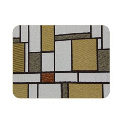 Fabric Textures Fabric Texture Vintage Blocks Rectangle Pattern Double Sided Flano Blanket (Mini)