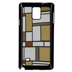 Fabric Textures Fabric Texture Vintage Blocks Rectangle Pattern Samsung Galaxy Note 4 Case (black)