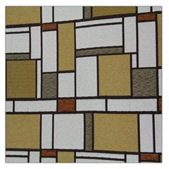 Fabric Textures Fabric Texture Vintage Blocks Rectangle Pattern Large Satin Scarf (Square)