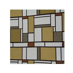 Fabric Textures Fabric Texture Vintage Blocks Rectangle Pattern Small Satin Scarf (Square)