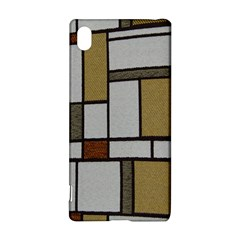 Fabric Textures Fabric Texture Vintage Blocks Rectangle Pattern Sony Xperia Z3+