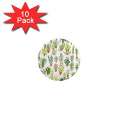 Flowers Pattern 1  Mini Magnet (10 Pack)