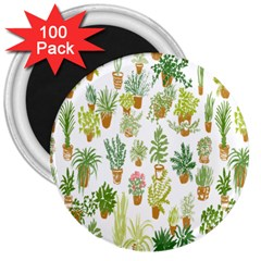 Flowers Pattern 3  Magnets (100 Pack)