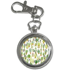 Flowers Pattern Key Chain Watches