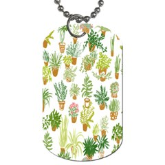 Flowers Pattern Dog Tag (Two Sides)