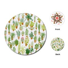 Flowers Pattern Playing Cards (Round)