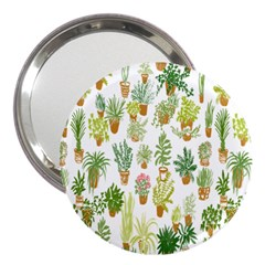 Flowers Pattern 3  Handbag Mirrors