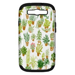 Flowers Pattern Samsung Galaxy S III Hardshell Case (PC+Silicone)