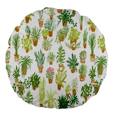 Flowers Pattern Large 18  Premium Round Cushions