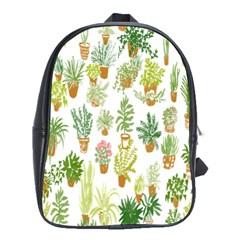 Flowers Pattern School Bags (XL)