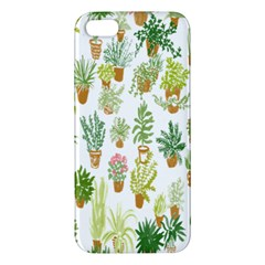 Flowers Pattern iPhone 5S/ SE Premium Hardshell Case