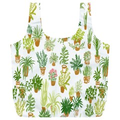 Flowers Pattern Full Print Recycle Bags (l)