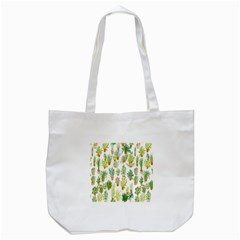 Flowers Pattern Tote Bag (White)