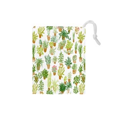 Flowers Pattern Drawstring Pouches (small)