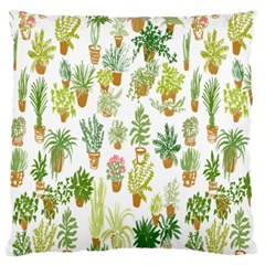 Flowers Pattern Large Flano Cushion Case (One Side)