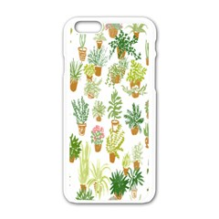 Flowers Pattern Apple iPhone 6/6S White Enamel Case