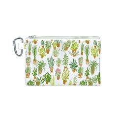 Flowers Pattern Canvas Cosmetic Bag (S)