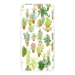 Flowers Pattern Apple Seamless iPhone 6 Plus/6S Plus Case (Transparent)