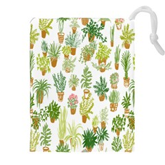 Flowers Pattern Drawstring Pouches (XXL)