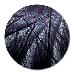 Fractal Art Picture Definition  Fractured Fractal Texture Round Mousepads