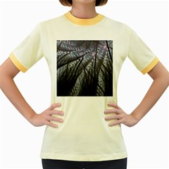 Fractal Art Picture Definition  Fractured Fractal Texture Women s Fitted Ringer T Shirts