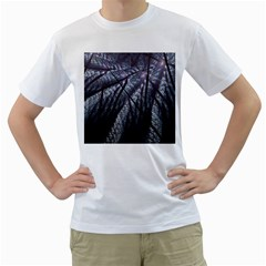 Fractal Art Picture Definition  Fractured Fractal Texture Men s T-Shirt (White) (Two Sided)