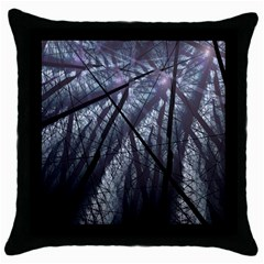 Fractal Art Picture Definition  Fractured Fractal Texture Throw Pillow Case (Black)