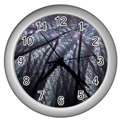 Fractal Art Picture Definition  Fractured Fractal Texture Wall Clocks (Silver)