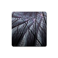 Fractal Art Picture Definition  Fractured Fractal Texture Square Magnet