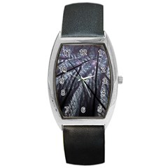 Fractal Art Picture Definition  Fractured Fractal Texture Barrel Style Metal Watch
