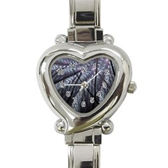 Fractal Art Picture Definition  Fractured Fractal Texture Heart Italian Charm Watch