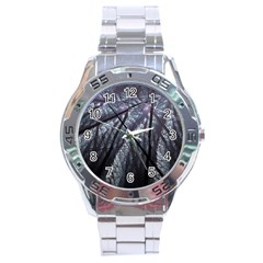 Fractal Art Picture Definition  Fractured Fractal Texture Stainless Steel Analogue Watch
