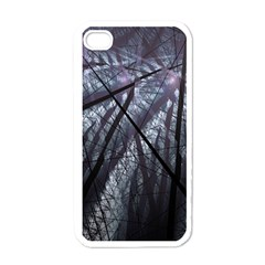 Fractal Art Picture Definition  Fractured Fractal Texture Apple iPhone 4 Case (White)