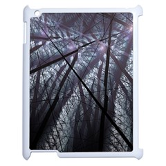 Fractal Art Picture Definition  Fractured Fractal Texture Apple iPad 2 Case (White)