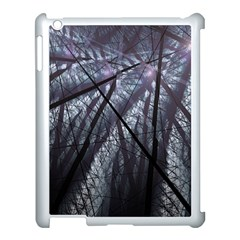 Fractal Art Picture Definition  Fractured Fractal Texture Apple iPad 3/4 Case (White)