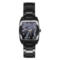 Fractal Art Picture Definition  Fractured Fractal Texture Stainless Steel Barrel Watch