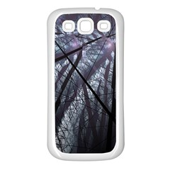 Fractal Art Picture Definition  Fractured Fractal Texture Samsung Galaxy S3 Back Case (White)