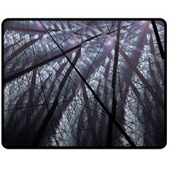 Fractal Art Picture Definition  Fractured Fractal Texture Double Sided Fleece Blanket (Medium)