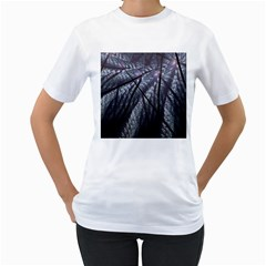 Fractal Art Picture Definition  Fractured Fractal Texture Women s T-Shirt (White)