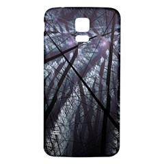 Fractal Art Picture Definition  Fractured Fractal Texture Samsung Galaxy S5 Back Case (White)