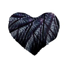 Fractal Art Picture Definition  Fractured Fractal Texture Standard 16  Premium Flano Heart Shape Cushions