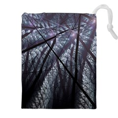 Fractal Art Picture Definition  Fractured Fractal Texture Drawstring Pouches (XXL)