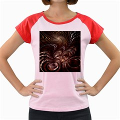 Fractal Art Texture Neuron Chaos Fracture Broken Synapse Women s Cap Sleeve T Shirt