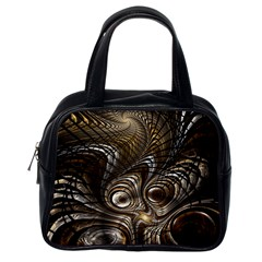 Fractal Art Texture Neuron Chaos Fracture Broken Synapse Classic Handbags (one Side)