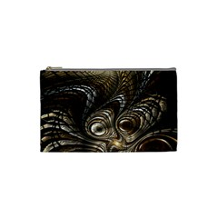 Fractal Art Texture Neuron Chaos Fracture Broken Synapse Cosmetic Bag (Small)