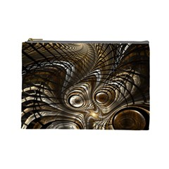 Fractal Art Texture Neuron Chaos Fracture Broken Synapse Cosmetic Bag (large)