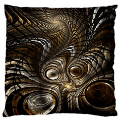Fractal Art Texture Neuron Chaos Fracture Broken Synapse Large Cushion Case (Two Sides)